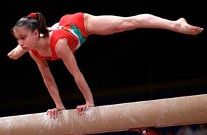 Vanessa Ferrari impegnata in un esercizio (Foto: gymmedia.com)